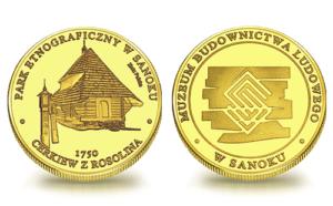 Medal pamiątkowy Muzeum Budownictwa Ludowego w Sanoku 118