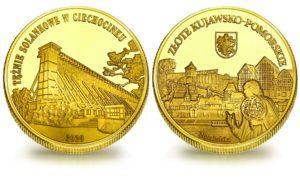 Medal pamiątkowy z Limitowanej Kolekcji Złotej Polski: Tężnie w Ciechocinku SPL_010