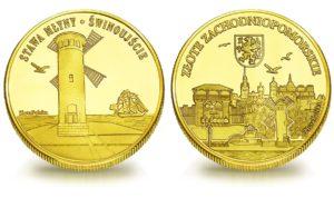 Medal pamiątkowy z Limitowanej Kolekcji Złotej Polski: Stawa Młyny – Latarnia w Świnoujściu SPL_004