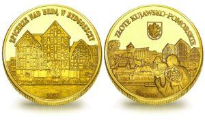 Medal pamiątkowy z Limitowanej Kolekcji Złotej Polski: Spichlerze nad Brdą w Bydgoszczy SPL_012