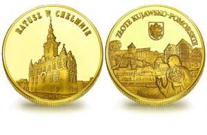 Medal pamiątkowy z Limitowanej Kolekcji Złotej Polski: Ratusz w Chełmnie SPL_017