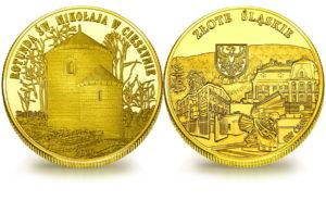 Medal pamiątkowy z Limitowanej Kolekcji Złotej Polski: Baszta Św. Mikołaja w Cieszynie SPL_016