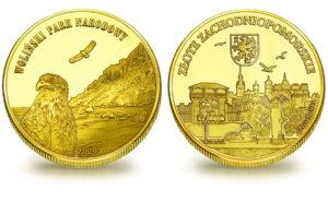 Medal pamiątkowy z Limitowanej Kolekcji Złotej Polski: Woliński Park Narodowy SPL_013
