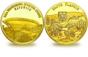 Medal pamiątkowy z Limitowanej Kolekcji Złotej Polski: Hala Widowiskowo- Sportowa Spodek w Katowicach SPL_021